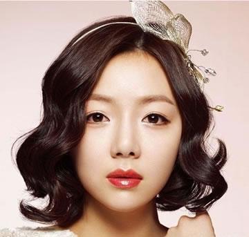 短发韩式新娘造型 清新唯美新娘