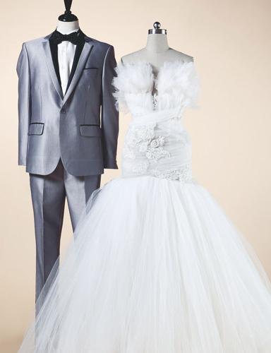新娘和新郎婚纱搭配_新郎与新娘该如何挑选匹配婚纱礼服