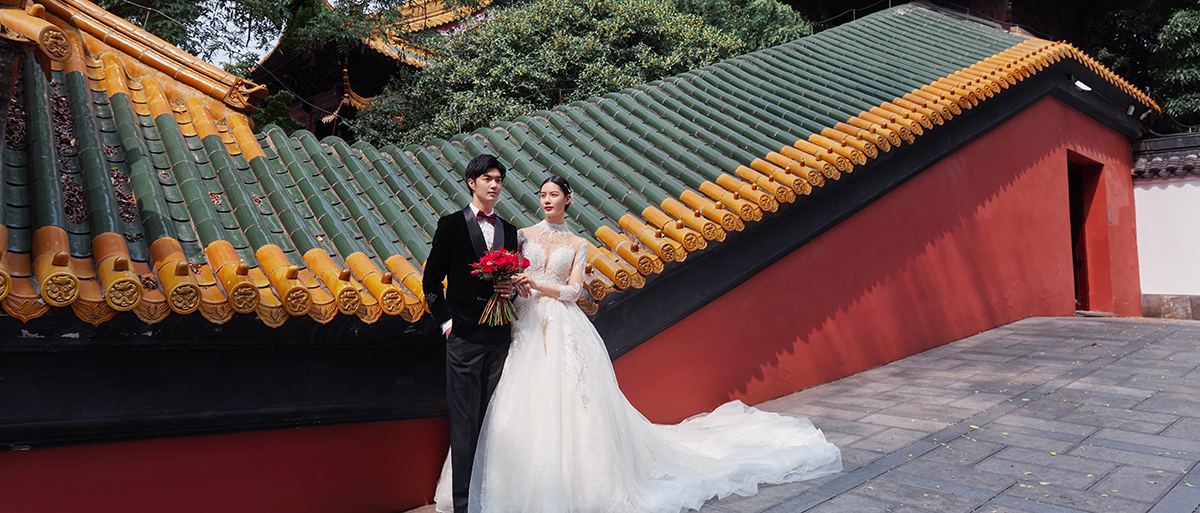 """南京特色""""故宫""""婚纱照"""
